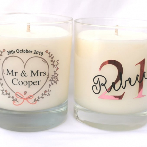 Personalised 20cl Soy Wax Candles